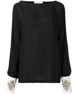 STEFANO DE LELLIS | Embellished Cuff Blouse 40 Polyester