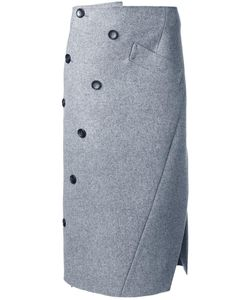 Irene | Twist Wrap Skirt 36 Wool
