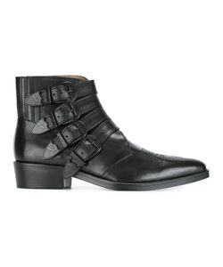 TOGA VIRILIS | Buckled Ankle Boots 45 Leather