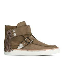 TOGA VIRILIS | Buckled Tassel Ankle Boots 40 Nubuck