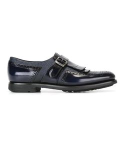 Church'S   Perforated Detailing Monk Straps 36 Calf Leather/Leather/Rubber
