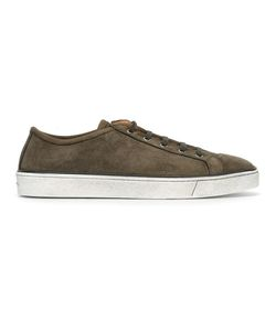 Santoni | Lace-Up Sneakers 6.5 Suede/Leather/Rubber