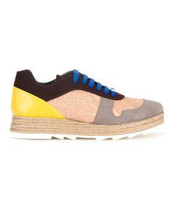 Stella Mccartney | Paneled Lace-Up Sneakers 37 Polyamide/Polyurethane