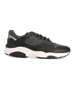 Salvatore Ferragamo | Panelled Sneakers 9 Leather/Wool/Rubber