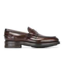 Santoni | Classic Loafers 10 Calf Leather/Leather/Rubber