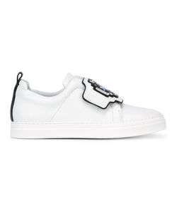 Pierre Hardy   Embellished Strap Sneakers 35 Calf Leather/Leather/Rubber