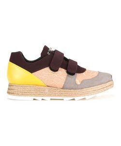 Stella Mccartney | Paneled Velcro Sneakers 37 Polyamide/Polyurethane