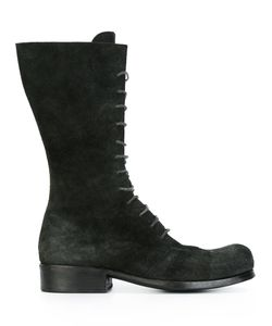 DIMISSIANOS & MILLER | Mid-Calf Lace-Up Boots 38 Calf