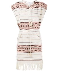 Zimmermann | Fringed Hem Poncho Dress 0 Cotton