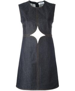 Courreges | Courrèges Cut-Off Detailing Denim Dress Size 38 Cotton