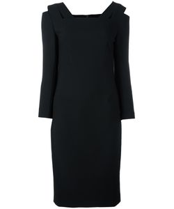 Roland Mouret | Fitted Dress 14 Polyester/Viscose/Spandex/Elastane/Polyamide
