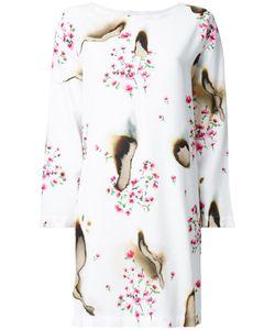 Moschino | Платье С Цветочным Узором И Жженым Эффектом