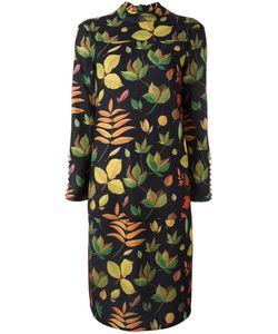 Arthur Arbesser | Leaf Printed Dress 42 Polyester/Spandex/Elastane