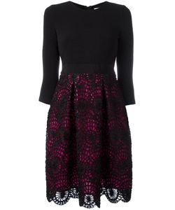 Si Jay | Pleated Lace Skirt Dress 42 Polyester/Viscose