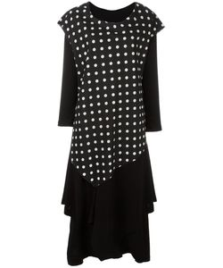 NOCTURNE 22 | Nocturne 22 Polka Dots Dress Cotton/Linen/Flax