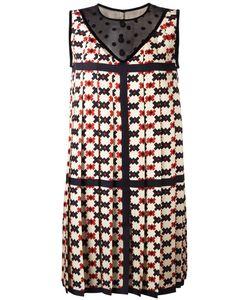 Marc Jacobs | Pixel Check Print Dress 6 Silk/Nylon/Cotton