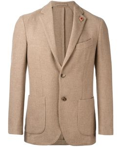 Lardini | Two-Button Blazer 48 Camel Hair/Polyester
