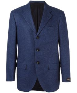 Kiton | Buttoned Long Sleeve Blazer 54 Wool/Cotton/Cashmere/Cupro