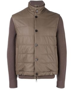 Loro Piana | Ribbed Sleeve Jacket Xl Lamb Skin/Cashmere/Cotton