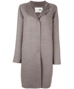 Manzoni 24   Single Breasted Coat Large Wool/Cashmere