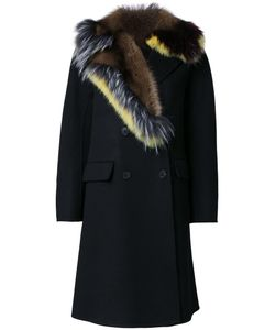 Ermanno Scervino | Fur Collar Coat 44 Virgin Wool/Angora/Wool