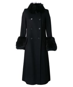 Ermanno Scervino | Double Breasted Coat 40 Virgin Wool/Angora/Wool