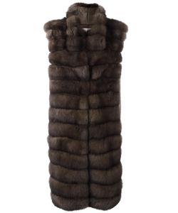 Manzoni 24   Oversized Fur Gillet Medium Wool/Cashmere/Sable