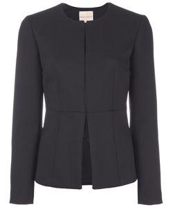 Erika Cavallini | Collarless Fitted Jacket 40 Polyester/Spandex/Elastane/Acetate