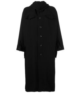 NOCTURNE 22 | Nocturne 22 Short Wide Sleeve Coat Small Wool/Cotton/Linen/Flax/Cupro