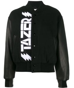ASHLEY WILLIAMS | Tazer Bomber Xs Virgin Wool/Nylon/Leather/Acetate