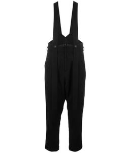 NOCTURNE 22 | Nocturne 22 Braces Detail Trousers Medium Wool/Nylon/Cupro