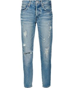 Moussy | Frayed Cropped Jeans 28 Cotton