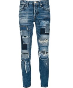 Moussy | Destroyed Cropped Jeans 25 Cotton
