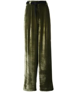 Michel Klein | High-Rise Wide-Legged Trousers 36 Viscose/Silk