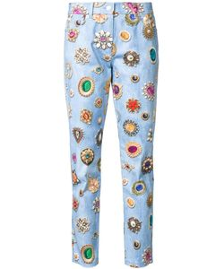 Moschino | Jewel Print Slim Fit Jeans 44 Cotton/Other