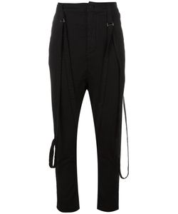Poème Bohèmien | Poème Bohémien Attached Braces Drop-Crotch Trousers 40 Cotton/Viscose/Spandex/Elastane