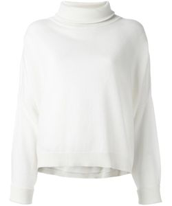 DUSAN | Roll Neck Cropped Sweater Small Cashmere