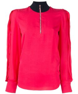 3.1 Phillip Lim   High Collar Blouse 4 Silk/Viscose/Spandex/Elastane