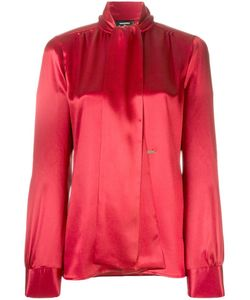 Dsquared2 | Draped Long Sleeved Blouse 42 Silk