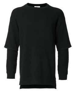 Monkey Time | Layered Longsleeved Pullover Large Wool/Polyester