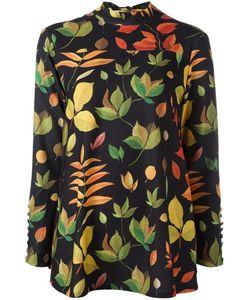 Arthur Arbesser | Leaf Printed Blouse 40 Polyester/Spandex/Elastane
