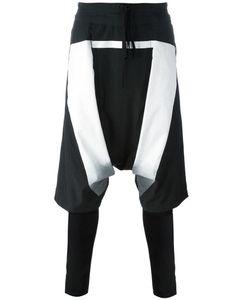 NIL0S   Drop-Crotch Printed Shorts Leggings 1 Cotton/Nylon