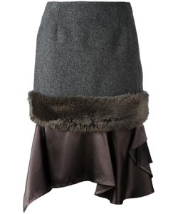 Kolor | Panelled Skirt 1 Wool/Nylon/Cupro