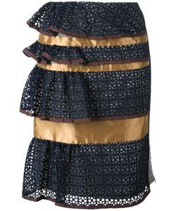 Kolor | Peplum Skirt 3 Nylon/Wool/Cupro/Viscose