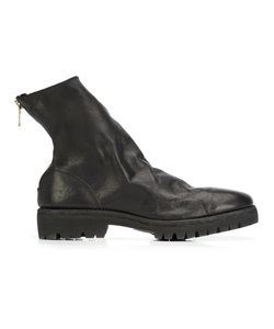 GUIDI | Rear Zip Ankle Boots 43 Leather/Rubber