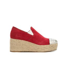 Andrea Bogosian | Flatform Slippers 36 Leather