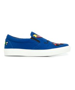 Mira Mikati | Patches Slip-On Sneakers 36 Wool/Leather/Rubber