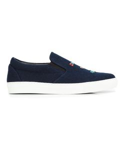 Mira Mikati   Patches Slip-On Sneakers 36 Wool/Leather/Rubber