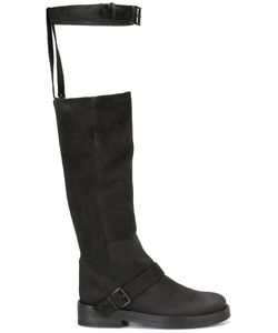 Ann Demeulemeester Icon | Buckle Strap Knee Boots 39