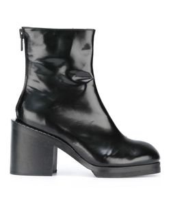 Penelophe'S Sphere | Chunky Heel Ankle Boots 39 Leather/Wood/Rubber
